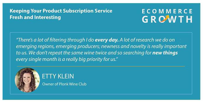 Etty Klein, CEO of Plonk Wine Club, Quote Card
