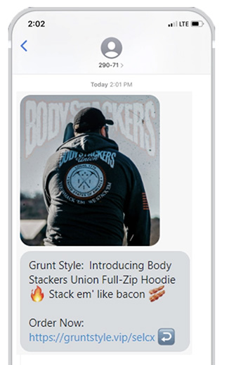 Grunt Style SMS campaign