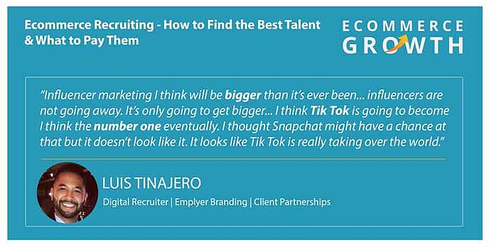 Luis Tinajero discusses the state of eCommerce recruiting.