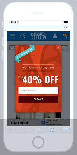 Email popup for Conversion Rate Optimization
