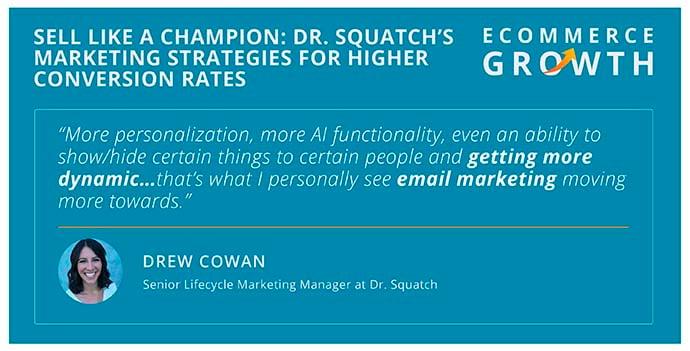Drew Cowan of Dr. Squatch discusses conversion rates
